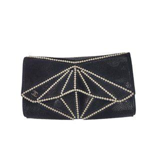 NEW Chanel Midnight Swim Pearl Origami Clutch